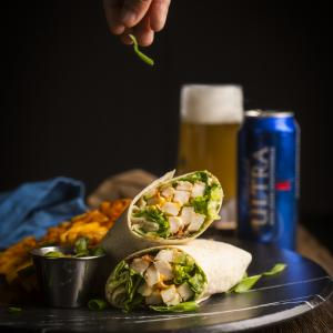 Wrap au poulet bacon et chipotle